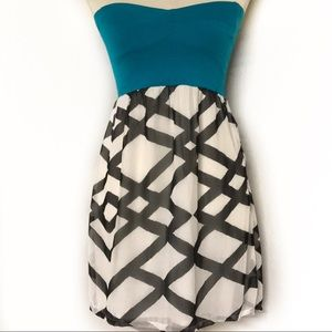 Roxy Strapless Dress Teal Top size M